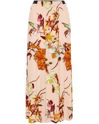 Womens Maxi Skirt Linen Mix Midaxi Drawcord Waist Simply Be