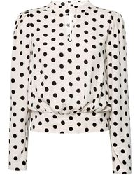 Dorothy Perkins Blush Spot Print Long Sleeve Blouse - Pink