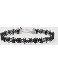 9f60a181d64 Dorothy Perkins - Black Flower Lace Choker Necklace - Lyst