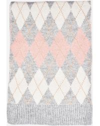 Dorothy Perkins Gray And Pink Argyle Scarf, Pink