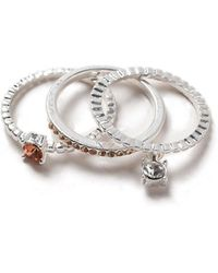 Dorothy Perkins - Charm Stack Ring Pack - Lyst