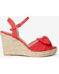 Dorothy Perkins - Red 'rolo' Bow Wedges - Lyst
