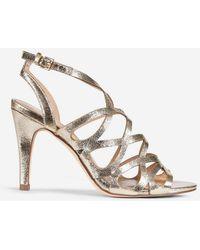 36ca1503d1d39b Lyst - Dorothy Perkins Gold Niscos  sundae  Low Heel Sandals in Metallic
