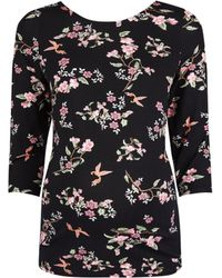 8b97ce15f5529 Dorothy Perkins - Maternity Multi Colour Bird And Floral Print Scoop Back  Top - Lyst