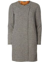 Dorothy Perkins - Dogstooth Double Faced Coat - Lyst
