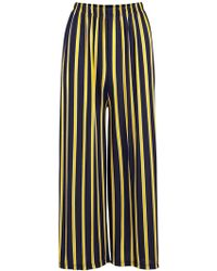 Dorothy Perkins Izabel London Multi Coloured Wide Leg Pants - Yellow