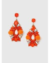 Dorothy Perkins - Orange Bead And Pom Earrings - Lyst
