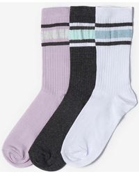 Dorothy Perkins - 3 Pack Multi Coloured Sport Striped Socks - Lyst