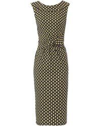 Dorothy Perkins Jolie Moi Yellow Fold Collar Dress, Yellow