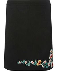 Dorothy Perkins - Black Embroidered Mini A-line Skirt - Lyst