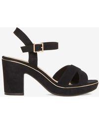 Dorothy Perkins | Black 'romy' Platform Sandals | Lyst