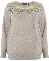 100% Authentic Cheap Price Dorothy Perkins Womens **DP Curve Embroidered Yoke Jumper- Cheap Sale Very Cheap Cheap Shopping Online k1VkPNcFB