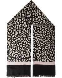 Quiz - Quiz Multi Colour Leopard Print Knitted Scarf - Lyst