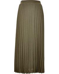 Dorothy Perkins Dp Tall Khaki Pleated Skirt - Natural