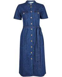 Dorothy Perkins Indigo Denim Shirt Dress - Blue