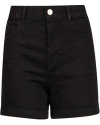 Dorothy Perkins Black Denim Shorts, Black
