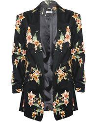 Dorothy Perkins Dp Tall Floral Print Jacket - Black