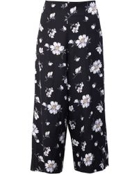 Izabel London Floral Print Pants - Black