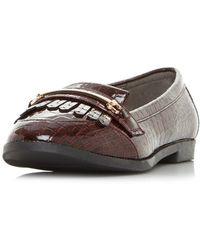 b1dc49aea86 Dorothy Perkins - Head Over Heels By Dune Brown  goldiie  Ladies Flat Shoes  -