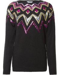 Dorothy Perkins Tall Black Fairisle Sweater