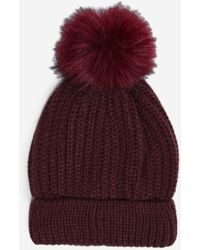 Dorothy Perkins Burgundy Pom Hat - Red