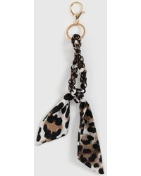 Dorothy Perkins Multi Color Leopard Print Scarf Keyring - Brown