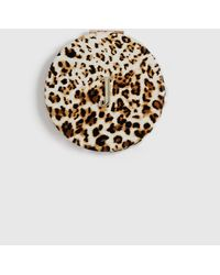 Dorothy Perkins Multi Color Leopard Print Initial 'r' Compact Mirror - Brown