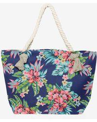 Dorothy Perkins | Blue Tropical Print Shopper Bag | Lyst