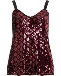 Dorothy Perkins Raspberry Diamond Sequin Camisole Top - Red