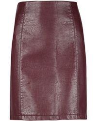 Dorothy Perkins Tall Burgundy Pu Mini Skirt - Purple