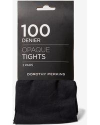 Dorothy Perkins Black 2 Pack 100 Denier Tights, Black