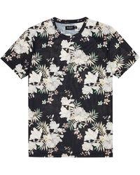 Dorothy Perkins Burton Black Recycled Polyester Oriental Floral Print T-shirt, Black