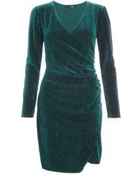 Dorothy Perkins Quiz Bottle Green Bodycon Dress