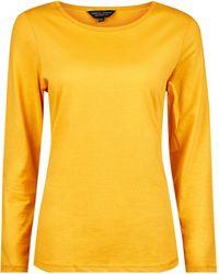 Dorothy Perkins Yellow Long Sleeve Crew Cotton T-shirt - Orange