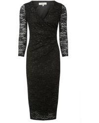 d87ca11be9d Dorothy Perkins - Billie   Blossom Tall Black Lace Pencil Dress - Lyst