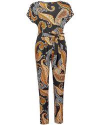 Dorothy Perkins Black And Orange Paisley Print Jumpsuit, Black