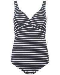 Dorothy Perkins - Mamalicious Maternity Navy Striped Swimsuit - Lyst