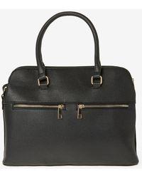 Dorothy Perkins - Black Double Zip Handbag - Lyst