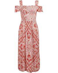 Dorothy Perkins - Dp Curve Pink Paisley Print Midi Dress - Lyst