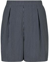 Dorothy Perkins Tall Gray Striped Tie Waist Shorts