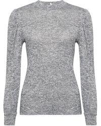 Dorothy Perkins Grey Puff Sleeve Jumper - Gray