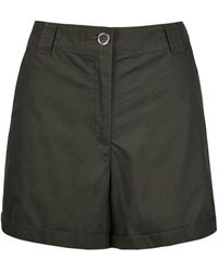 Dorothy Perkins Khaki Cotton Shorts - Multicolour