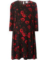 Dorothy Perkins - Mamalicious Maternity Black Floral Flute Skater Dress - Lyst
