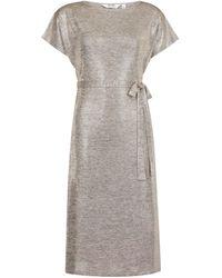Dorothy Perkins Dp Petite Gold Shimmer Midi Dress, Gold - Metallic