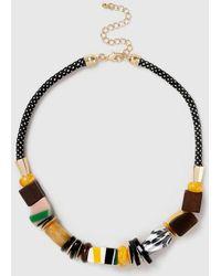 Dorothy Perkins - Resin Stripe Collar Necklace - Lyst