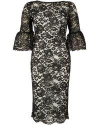 Dorothy Perkins Tfnc Black Lace Midi Bodycon Dress, Black
