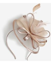 Dorothy Perkins Beige Satin Fascinator - White
