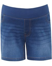 Dorothy Perkins Dp Maternity Midwash Denim Shorts - Blue