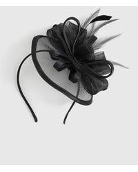 Dorothy Perkins Black Satin Fascinator, Black