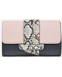 afbabbf76fb Valentino Mime Colour-block Leather Clutch in Red - Lyst